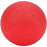 Samfox Bolas de Agarre, Bola de Agarre de Masaje de Silicona para la Herramienta de Alivio del estrés del Ejercicio de Fuerza de los Dedos de la Mano(Rojo)