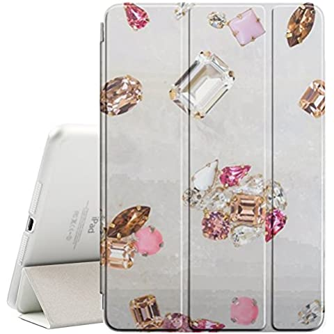 YOYOcovers [ FOR Apple iPad Mini 2 / 3 / 4 ] Smart Cover Automático Arriba / SueñoYOYOcovers [ FOR Apple iPad Mini 2 / 3 / 4 ] Smart Cover Automático Arriba / Sueño - Gem Diamond Stone Bling Gold
