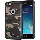 Coque iPhone 6 iPhone 6s Coque militaire iPhone 6 6s | JammyLizard | Coque incassable renforcée militaire coque camouflage pour iPhone 6 6s, Vert