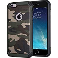 iPhone 6/6s Camouflage Hülle | JAMMYLIZARD Outdoor-Schutzhülle [Army HD] Military Case aus Silikon und Leder mit Tarnmuster, Grün