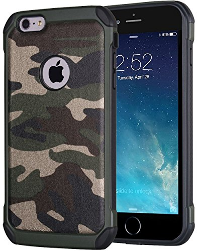 Cover iPhone 7 Plus, JAMMYLIZARD Custodia Heavy Duty ARMY in TPU per iPhone 7 Plus, (Army Camouflage Pattern)