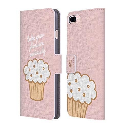 Head Case Designs Regenbogen Cupcake Freude Brieftasche Handyhülle aus Leder für Apple iPhone 6 / 6s Süßer Genuss