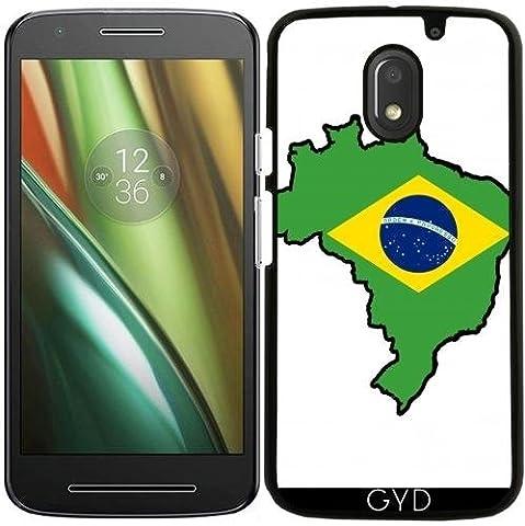 Coque pour Moto E (3ème génération) - Brazil Flag Map by Cadellin