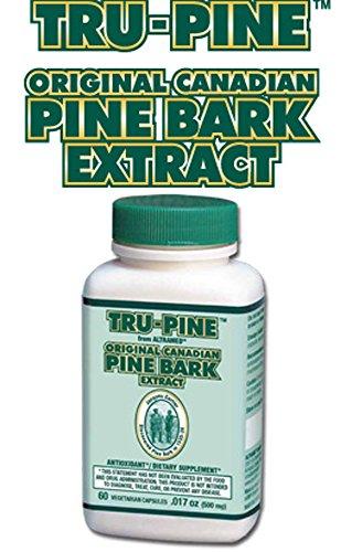 Tru-Pine extraktes bovina di pino canadese Formula Originale (60capsule vegetali) Tru-Pine Canadian Pine Bark Extract Formula Originale (60Vegetable Capsules)