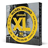 D'Addario EXL125-3D - Juego de cuerdas para guitarra el�ctrica de acero y n�quel, .009 - .046