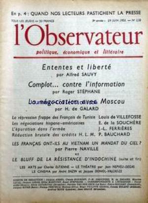 OBSERVATEUR (L') [No 110] du 19/06/1...