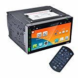 lacaca 2DIN AUTORADIO Android 4.4Stereo Auto DVD PC Player GPS Navi in Dash Navigation Haupteinheit Video Player MP3/MP4/GPS/SD/USB/FM/AM Radio Audio Video Stereo