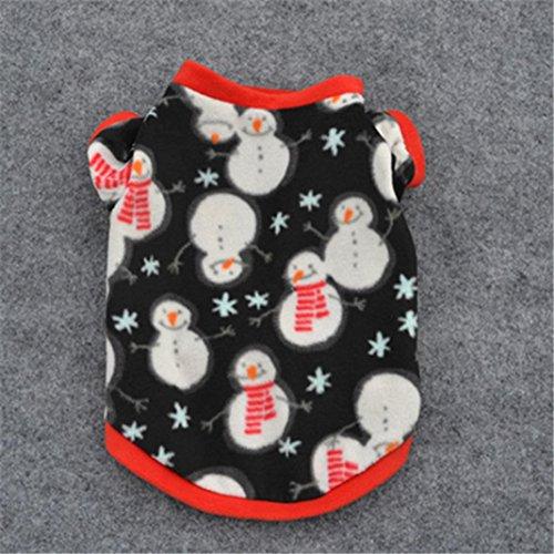Weihnachtshaustier-Welpen-Schneemann-warmer Sweatshirt Hochwertiges gesticktes Kleid-Halloween-Kostüm-Haustier-Kleid (Haustier Niedliche Halloween Bilder)
