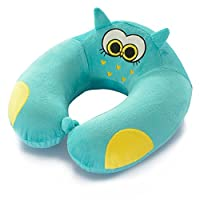 unlockgift Cute Animals Travel Pillow Memory Foam Neck Support Pillow For Travel and Sleeping (Owl)