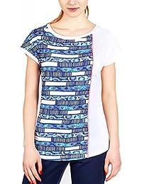 Emporio Armani - T-shirt - Femme blanc multicolore