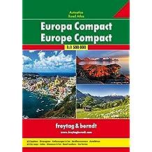 Europa Compact, Autoatlas 1:1.500.000, Freytag Berndt Autoatlanten,