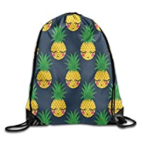 GDESFR Pineapple Cartoon Cute Drawstring Bag for Traveling Or Shopping Casual Daypacks School Bags Unisex