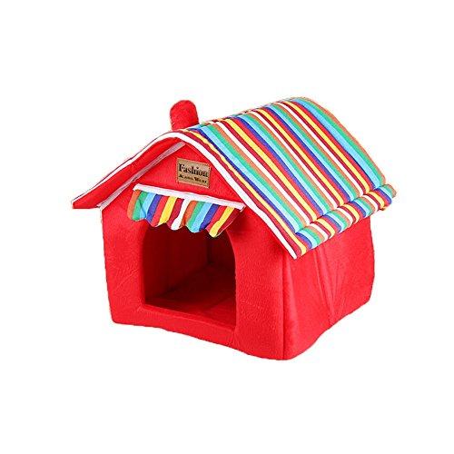 YNZYOG Nid De Petit Chien Amovible Et Lavable Lit d'animal d'hiver Maison De Compagnie Nid De Coton Tente Intérieure pour Animaux Nid De Chat Tissu Tapis D'éponge (Taille : S)