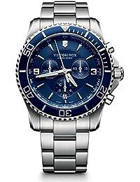 Victorinox Herren-Armbanduhr Maverick Chronograph Quarz Edelstahl 241689