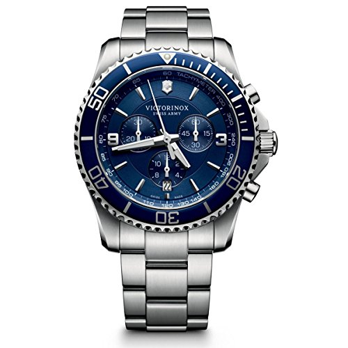 Victorinox Men's Chronograph Quartz Watch with Stainless Steel Bracelet – 241689