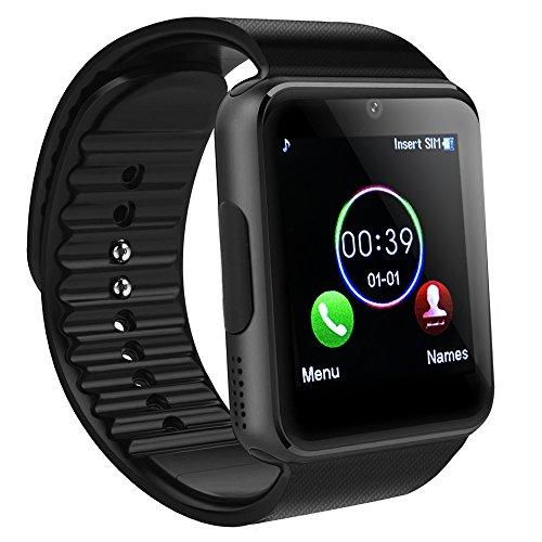Bluetooth Smartwatch, SAINKO Intelligente Armbanduhr Fitness Tracker Armband Sport Uhr mit Schlafanalyse/Kameraaufnahme/Schrittzähler/GPS-Routenverfolgung Kompatibel mit Android Smartphone (GT08) (3g Sport Armband)