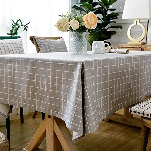 BMY Esstisch/Tuch/Polyester Baumwolle/leinen/verschlüsselung/kariert/geometrische/Platz/tischdecke/couchtisch/schwarz und weiß tischdecke/tischdecke, grau Gitter, 45x45 sät Sat-core