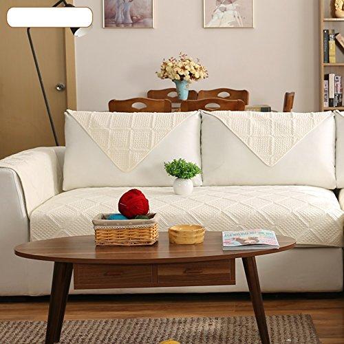 DW&HX Reine farbe Sofa möbel protector für hund,100 % baumwolle Sofabezug Volltonfarbe Verdicken sie Sofa werfen abdeckungen Anti-rutsch Gesteppter Spitze -C Kissenbezug 18x18nch (Sofa Modernes Sessel Loveseat)