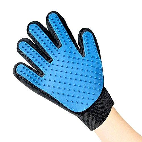 Euronovità accessoires pour chien – gant 5 doigts/Brosse de massage/Supprime poils courts et longs