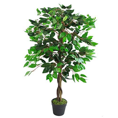 Leaf - Albero di ficus Artificiale Grande, 110 cm, Colore: Verde