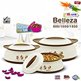#4: BMS GoodDay Belleza Insulated Hot Pot Casserole Gift Set, 3 Pcs ,With FREE 650ML Bowl