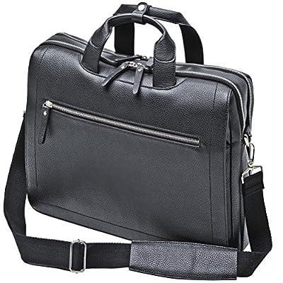 Maletin Bolso de polipiel cuero sintetico negro con compartimiento para portátil 11 pulgada 39081