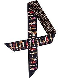 TOPSTORE01 Paris Retro Style Foulard Femme Ruban Echarpe Accessoires Pour  Cheveux Décoration Accessoire Sac à Main 9d05c088cd6