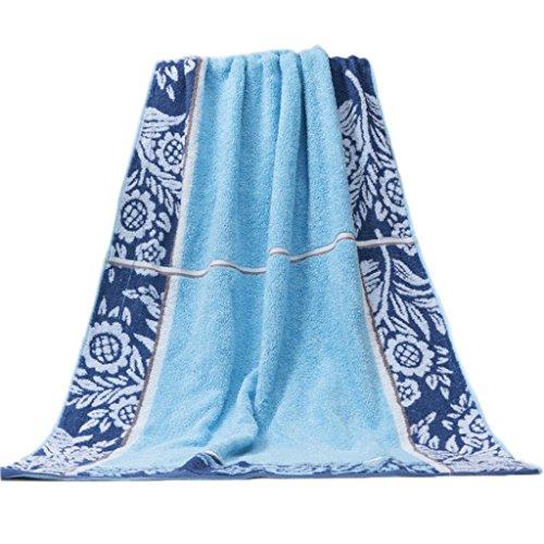 TOWEL LU Serviette en Coton Serviette en Coton pour Adulte Augmenter la Serviette Serviette Douce Serviette Super absorbante (Couleur : Bleu)
