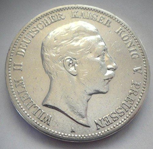 orig. Silbermünze 5 Mark 1902 A Preußen Wilhelm II - Prachtexemplar - Kaiserreich
