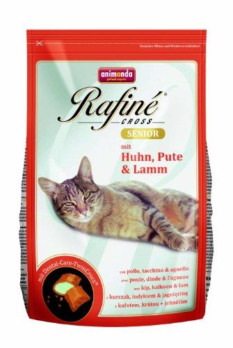 animonda Rafiné Cross Senior Katzenfutter, Trockenfutter für Katzen mit Huhn, Pute & Lamm, 1,5 kg - Futter Hühner Napf