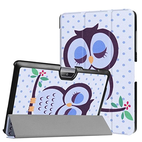 Schutzhülle für Acer Iconia Tab One 10 B3-A30 B3-A32 A3-A40 10.1 Zoll Case Bookstyle Cover Hülle (Schlafender Vogel)