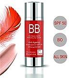 BB Cream Ad Alta Protezione SPF50 BB Cream ALL-IN-ONE Leggero e naturale ● Crema organica anti-invecchiamento SPF 50 Protezione solare