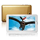 JINYJIA E-SHOP 7 Inch Android Google Tablet PC 4.2 Jelly Bean 2G SIM GSM Mobile Phone Phablet Call Phablet 4GB Dual Core Camera Bluetooth GPS Capacitive Gold