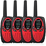 4X FLOUREON PMR Funkgerät Walkie Talkies 8 Kanäle Walki Talki 2-Wege Radio mit LC-Display Rot