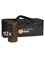 blackroll-orange Trainer BAG Sporttasche inkl. 10 Faszienrollen STANDARD