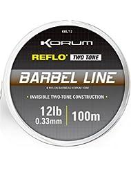 Korum–Reflo dos tono caña línea 100m bobina, 5,4 kg