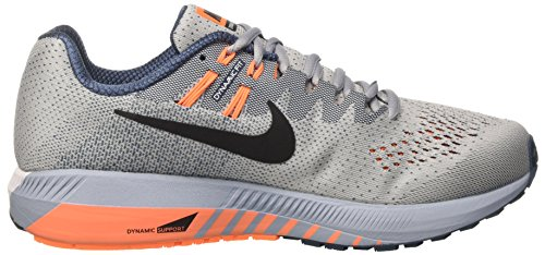 Nike Air Zoom Structure 20, Chaussures de Course Homme Gris (Wolf Grey/black/squadron Blue/tart)