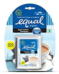 Equal Sugar Control Low Calorie Sweetener Tablets (300 Tablets - Pack of 5)
