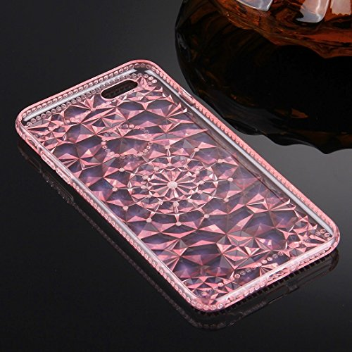 YAN Pour iPhone 6 / 6s, Diamond Encrusted Soft TPU Protective Case Back Cover ( Color : Pink ) Pink