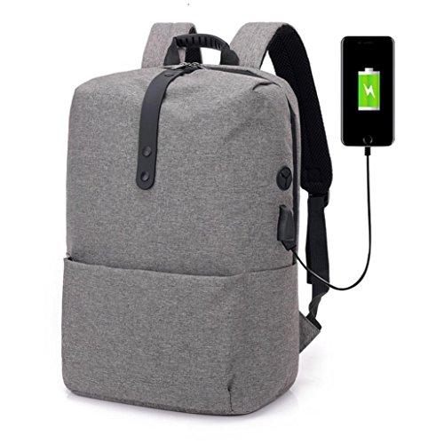 Beikoard vendita calda borsale fashion multi-functional anti-theft backpack borsa per laptop ad alta capacità con usb (grigio scuro)