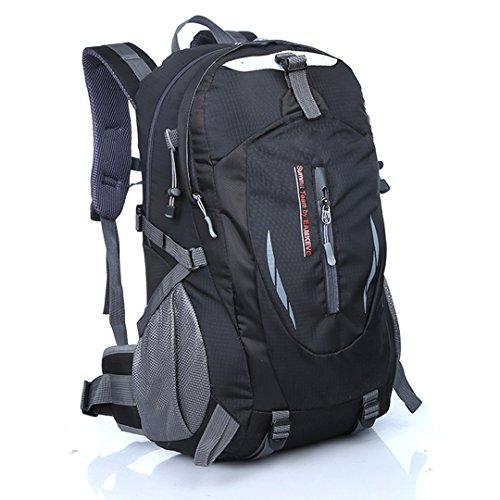 Imagen de hlzdh 40l impermeable  de senderismo de senderismo backpack paquete del alpinismo escalada marcha trekking camping deporte al aire libre acampadas negro  alternativa