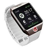 MYJ Smart Uhr Smart Watch Kamera Uhr,Weiß,A