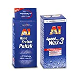 DR. WACK-SET Dr. Wack A1 Nano Kratzer Polish Kratzerentferner + Speed Wax Plus 3 Wachs