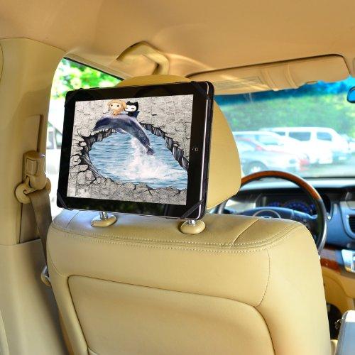 Preisvergleich Produktbild Kfz Halterung 9-10.1-Zoll-Tablet PC Schnellverschluss Auto Kopfstützenhalterung - iPad Pro 9.7 und Andere 9 - 10.1 Zoll Tablet PCs, Beige von TFY