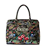 Guess Damen Badlands Shopper, Mehrfarbig (Camouflage/Cmo), 32x24x14.5 centimeters