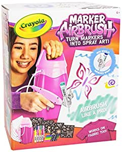 Crayola marker airbrush rosa aerografo for Aerografo crayola amazon