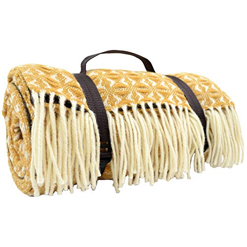 Snugrugs Extra große Wasserdicht 100% Wolle Picknick Decke/Reisedecke/Camping/Strand Matte. Hergestellt in Großbritannien für bushga-Senf