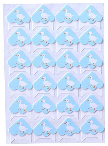 5 Blätter DIY der Kinder Tagebuch-Aufkleber Cotton Photo Corners Ente