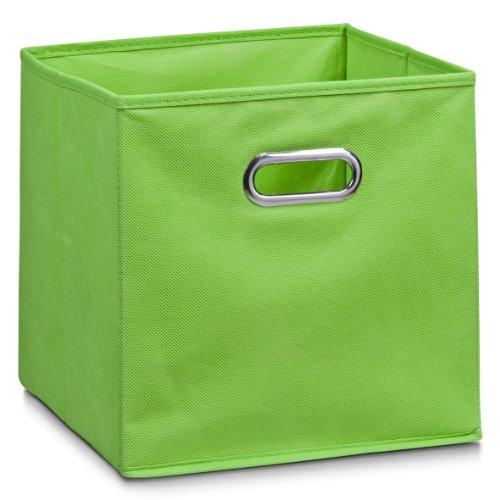 Zeller Vlies Aufbewahrungs-Box 4er Set 28 x 28 x 28 cm, farbig, faltbare Regal-Boxen Ordnungs-Boxen Regal-Korb quadratisch; 4teilig - je 1 Stück pro Farbe - 4