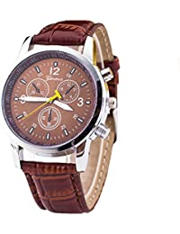 Yellow Chimes Elegant Looks Brown Dial Brown Strap Analog Watch For Men And Boys